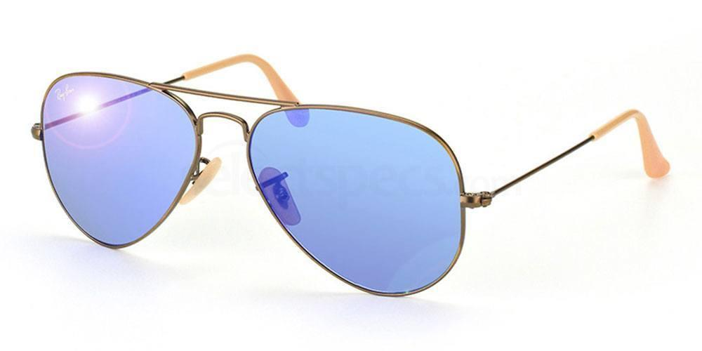 Ray-Ban-Blue-Mirrored-lenses-aviator-sunglasses