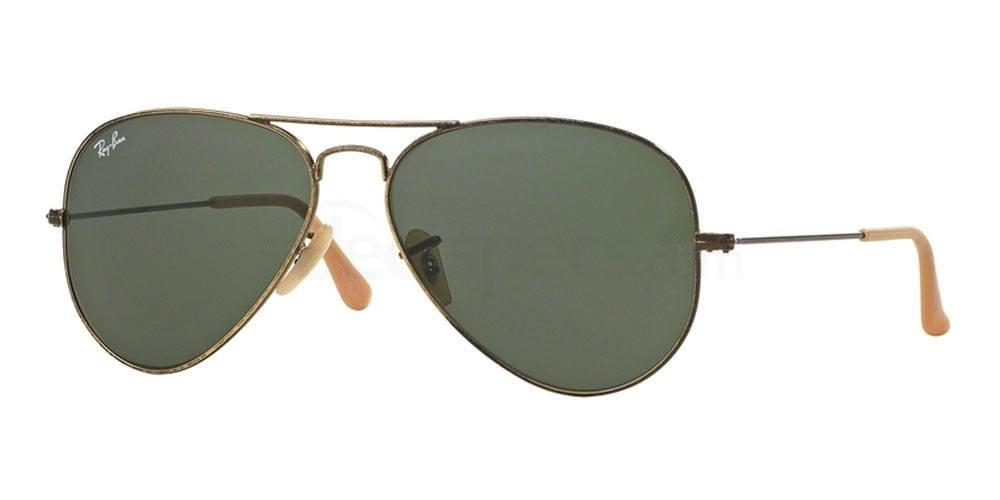 177 RB3025 Aviator AVIATOR DISTRESSED Sunglasses, Ray-Ban