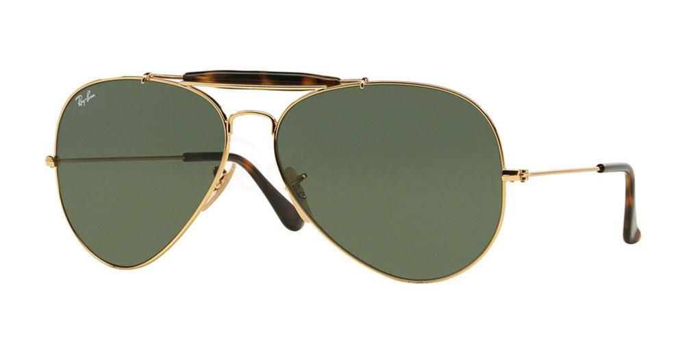 181 RB3029 OUTDOORSMAN II - HAVANA COLLECTION Sunglasses, Ray-Ban