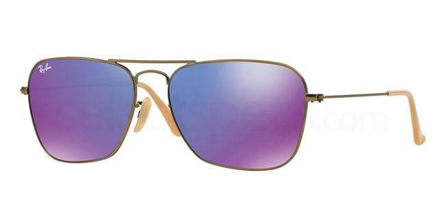 167/1M RB3136 Aviator - Caravan - Flash Lenses Sunglasses, Ray-Ban