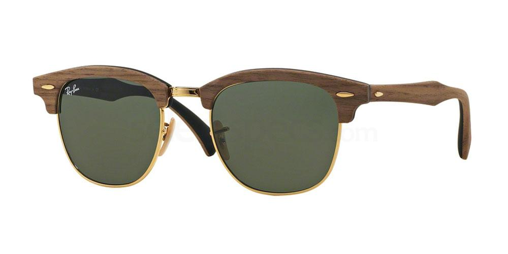 1181 RB3016M Clubmaster (M) - Wood Sunglasses, Ray-Ban