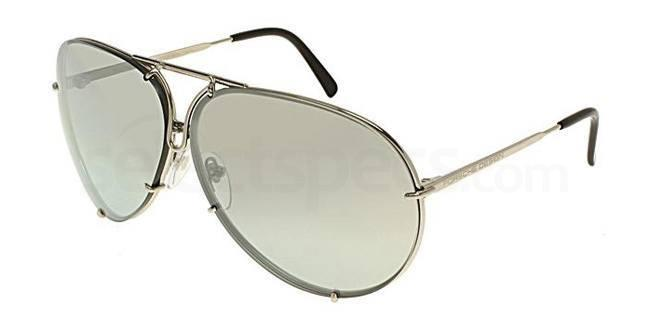 porsche rounded silver mirrored sunglasses