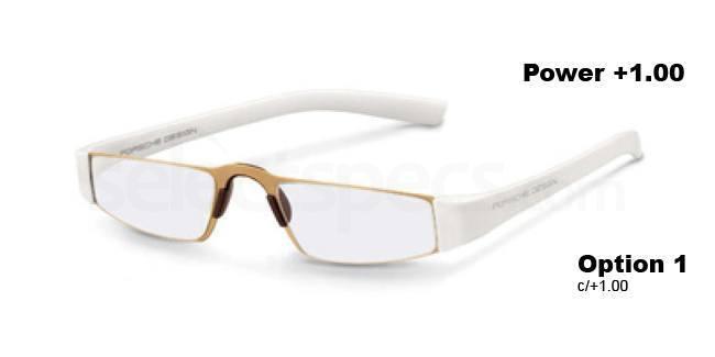 c +1.00 Power P8801 Reading Glasses - Gold White Accessories, Porsche Design