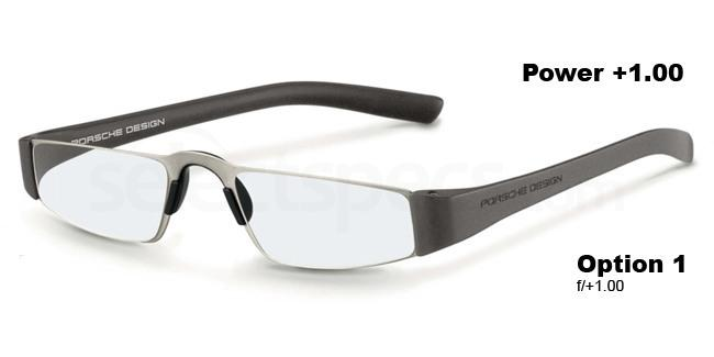 f +1.00 Power P8801 Reading Glasses - Titanium & Silver Accessories, Porsche Design