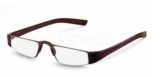 e +1.00 Power P8801 Reading Glasses - Sand & Brown Accessories, Porsche Design