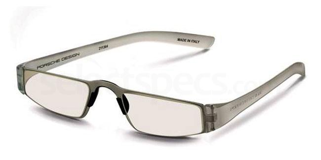 m +1.00 Power P8801 Reading Glasses - Silver & Crystal Accessories, Porsche Design