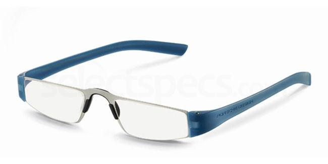 n +1.00 Power P8801 Reading Glasses - Silver & Blue Accessories, Porsche Design