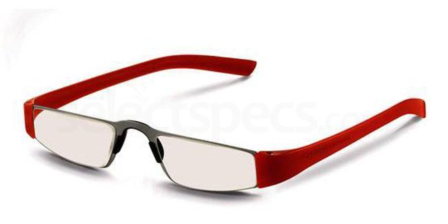 o +1.00 Power P8801 Reading Glasses - Silver & Orange Accessories, Porsche Design
