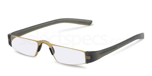 q +1.00 Power P8801 Reading Glasses - Gold & Black Accessories, Porsche Design