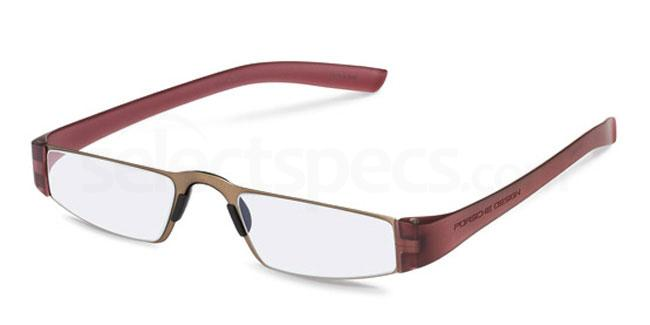r +1.00 Power P8801 Reading Glasses - Gold & Red Accessories, Porsche Design
