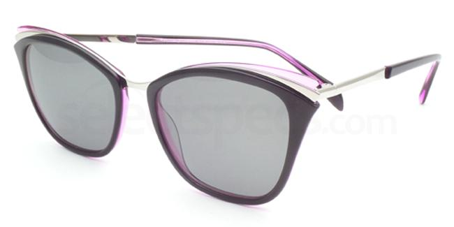 Raspberry Dream Heiress Sunglasses, Sun by Booth and Bruce