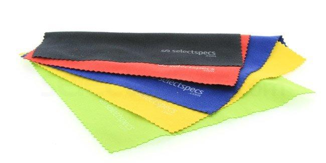 Black, Red, Blue, Yellow & Green Multi-colour Cleaning Cloth Pack - 5 Cloths , Optical accessories