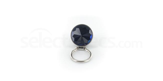 Blue Decrotive Stone Ladies Magnetic Blouse-Pocket Eyewear Glasses Holder Brooch Accessories, Optical accessories