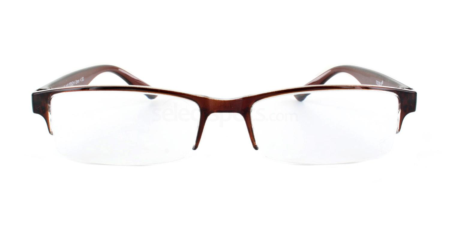 100 703 Reading Glasses - 1 Brown Accessories, Optical accessories