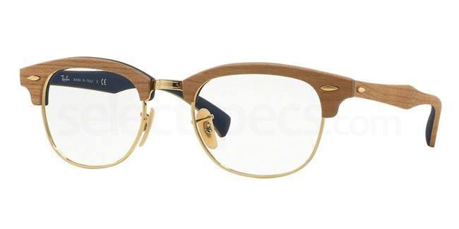 5559 RX5154M - Clubmaster Wood Glasses, Ray-Ban