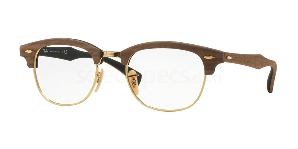 5560 RX5154M - Clubmaster Wood Glasses, Ray-Ban