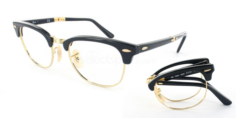 8369aa3f761b Ray-Ban RX5334 - Clubmaster Folding glasses. Free lenses ...