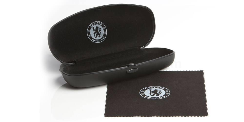 Sleek matt black CFC Chelsea FC Glasses Case & Cloth Accessories, Fan Frames