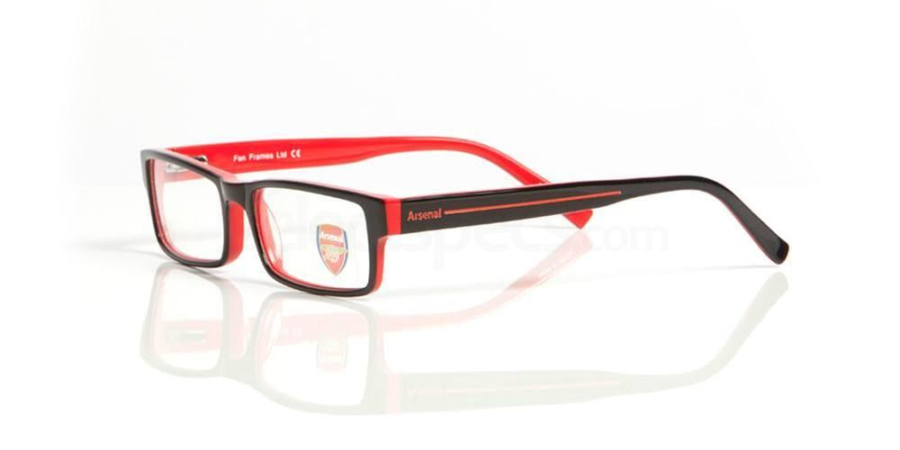 Black and Red ARSENAL FC - OAR003 Glasses, Fan Frames