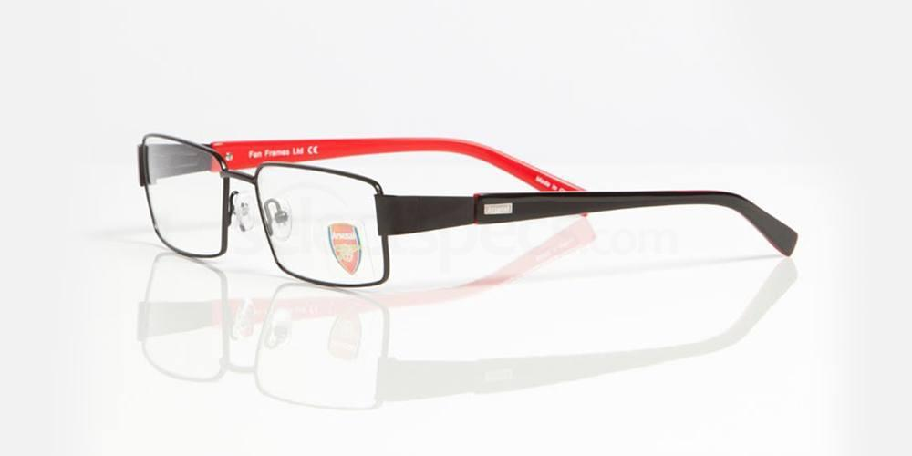 Black and Red ARSENAL FC - OAR004 Glasses, Fan Frames