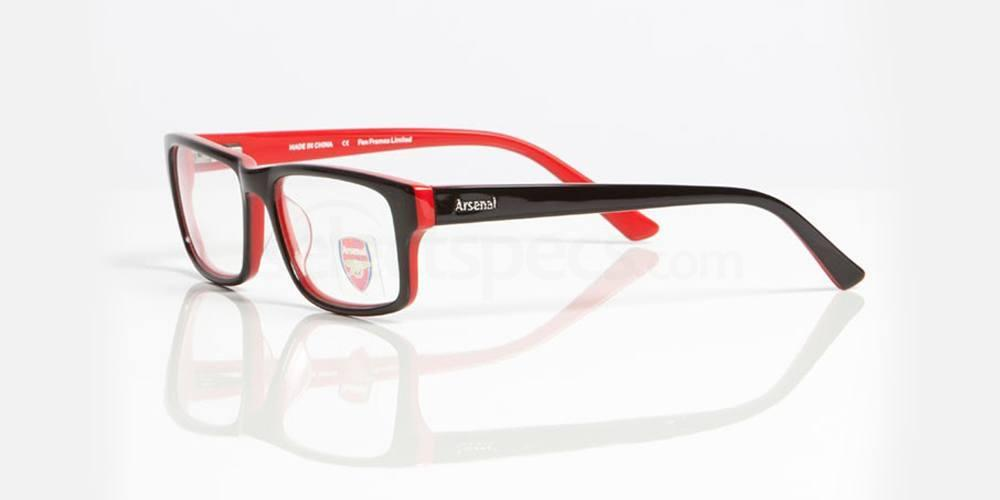 Black and Red ARSENAL FC - OAR005 Glasses, Fan Frames
