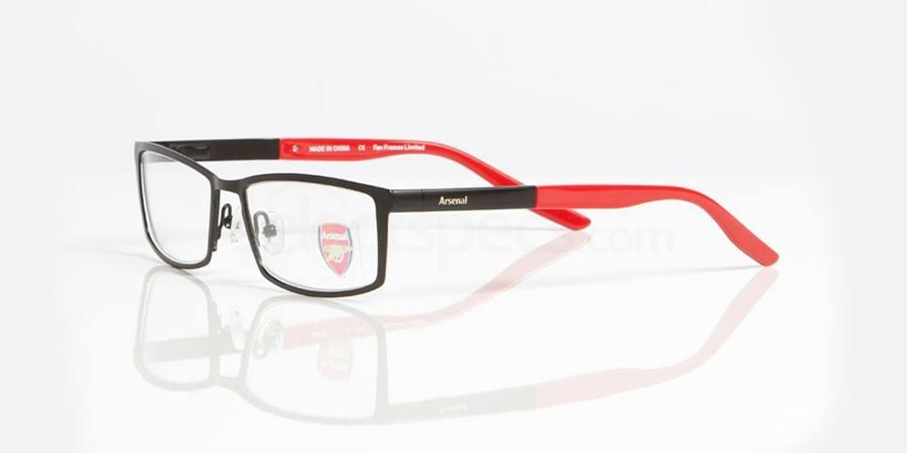 Matt Black & Red Gloss ARSENAL FC - OAR006 , Fan Frames