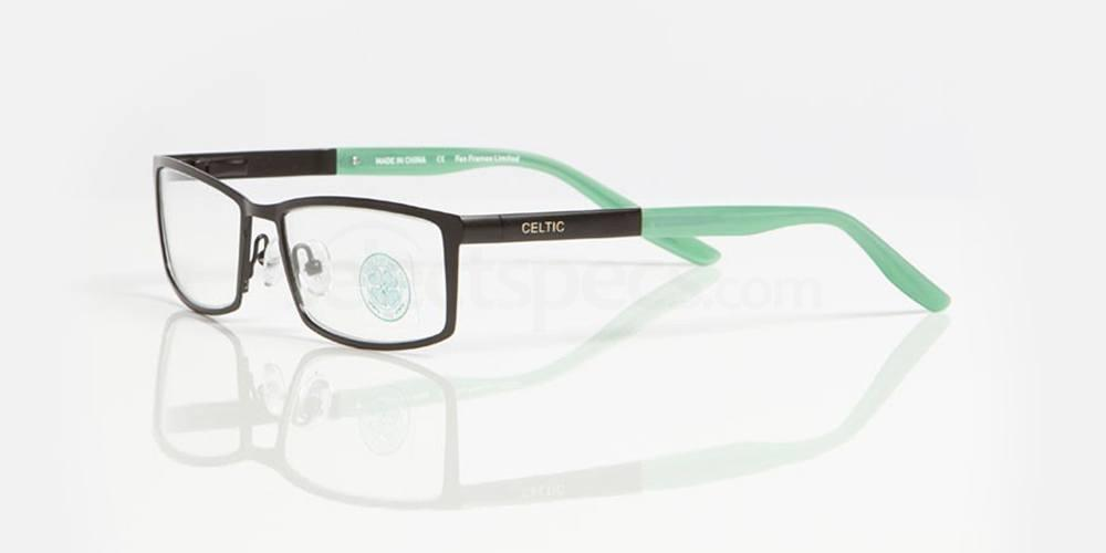 Matt Black and Gloss Green CELTIC FC - OCE006 Glasses, Fan Frames