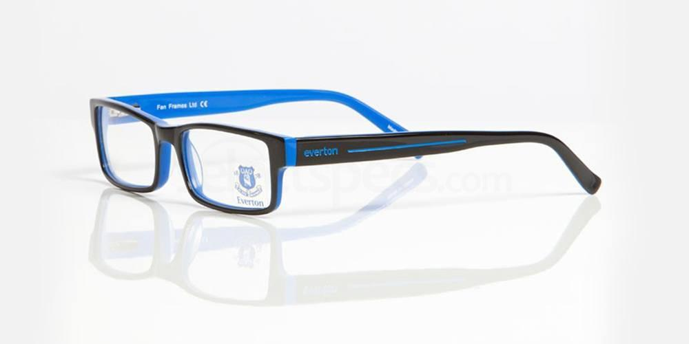 Black and Blue EVERTON FC - OEV003 Glasses, Fan Frames