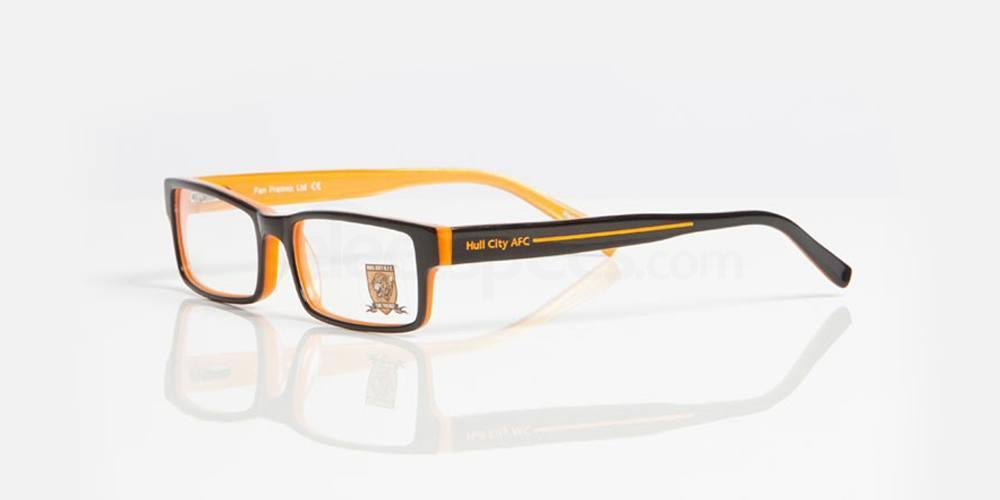 Black and Amber HULL CITY AFC - OHU003 Glasses, Fan Frames