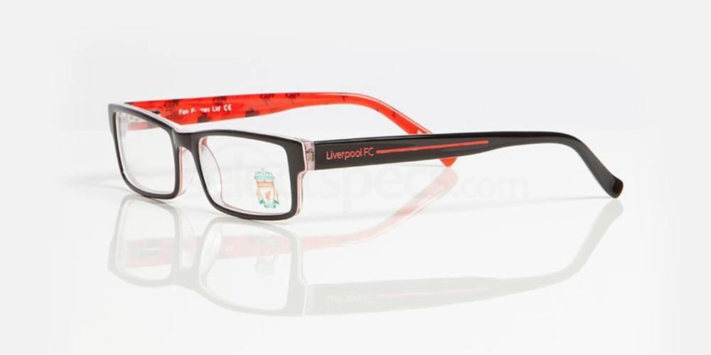Black, red and liverbird repeating pattern LIVERPOOL FC - OLI003 Glasses, Fan Frames