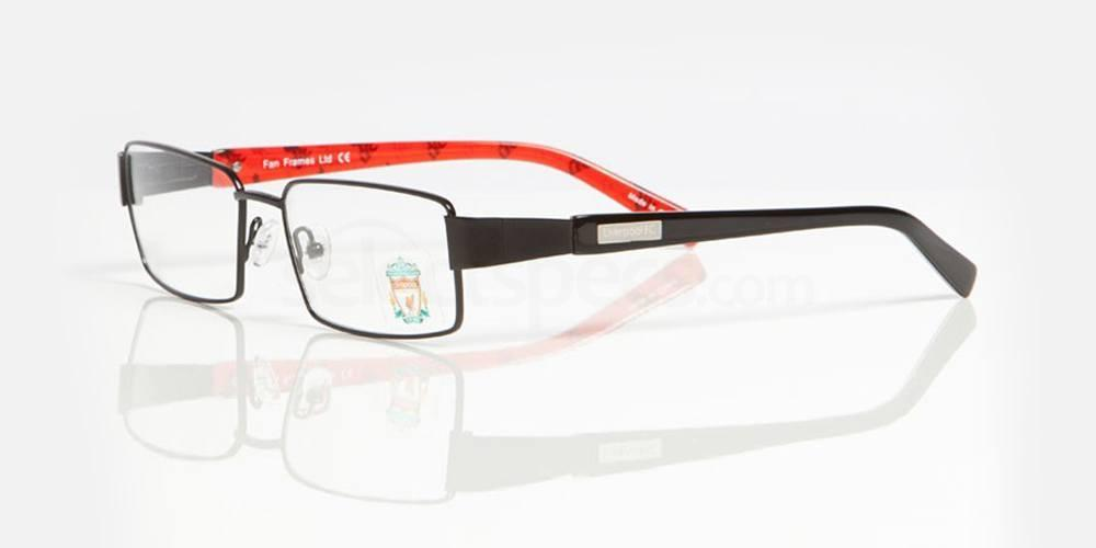 Black, red and liverbird repeating pattern LIVERPOOL FC - OLI004 Glasses, Fan Frames
