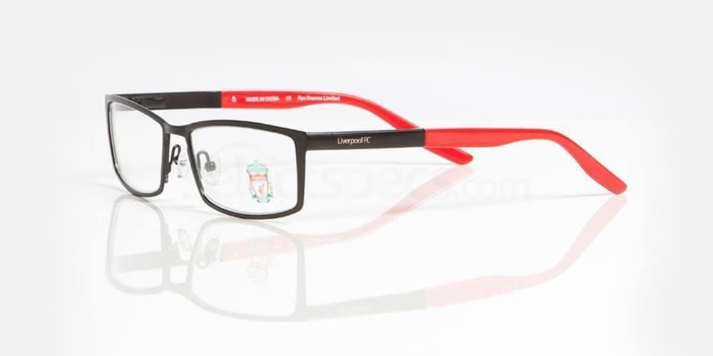 Matt Black, Red Gloss LIVERPOOL FC - OLI006 Glasses, Fan Frames