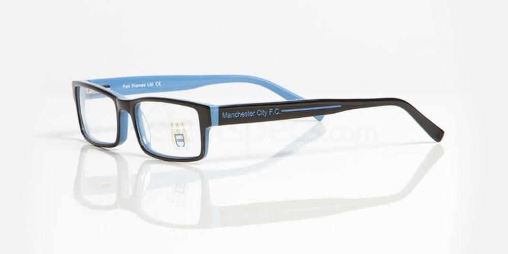 Black and Sky Blue MAN CITY - OMC003 Glasses, Fan Frames