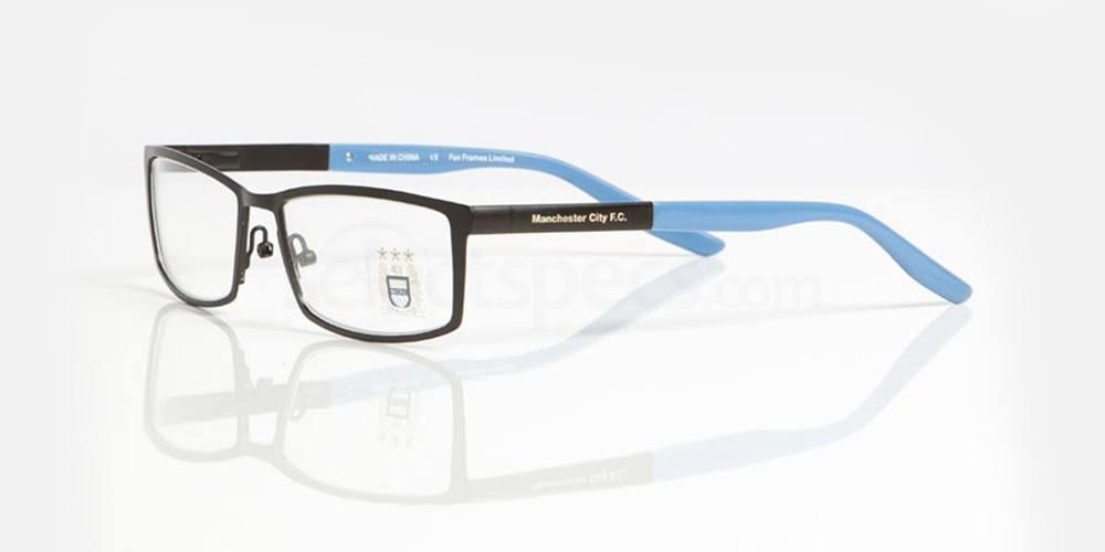 Black and Sky Blue MAN CITY - OMC006 Glasses, Fan Frames