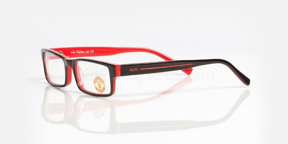 Black and Red MANCHESTER UTD - OMU003 Glasses, Fan Frames