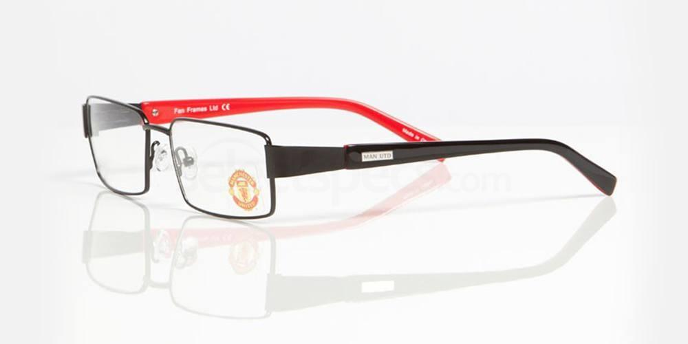Black and Red MANCHESTER UTD - OMU004 Glasses, Fan Frames