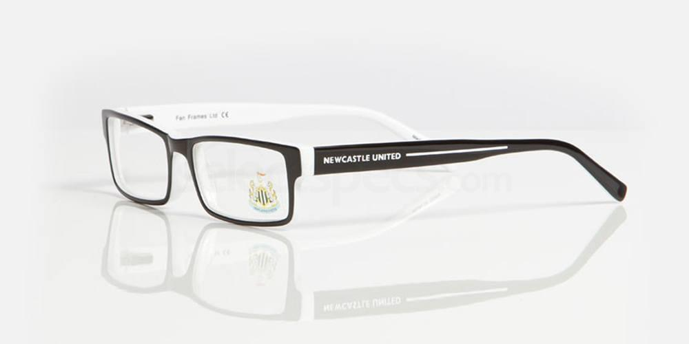 Black and White NEWCASTLE UTD - ONE003 Glasses, Fan Frames