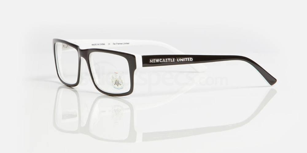 Black and White NEWCASTLE UTD - ONE005 Glasses, Fan Frames