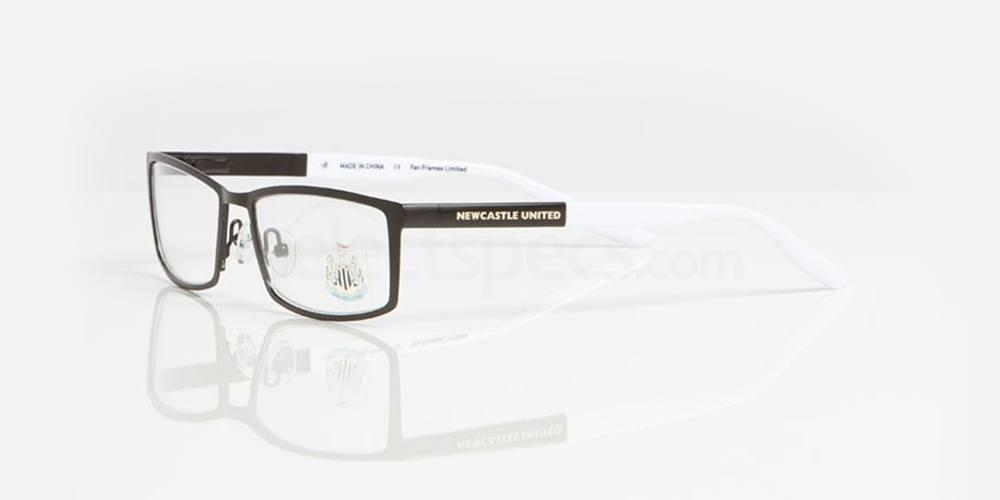 Matt Black and White Gloss NEWCASTLE UTD - ONE006 Glasses, Fan Frames