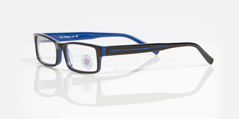 Black and Blue RANGERS FC - ORA003 Glasses, Fan Frames