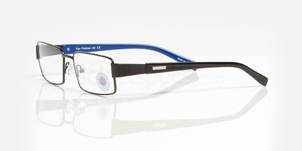 Black and Blue RANGERS FC - ORA004 Glasses, Fan Frames