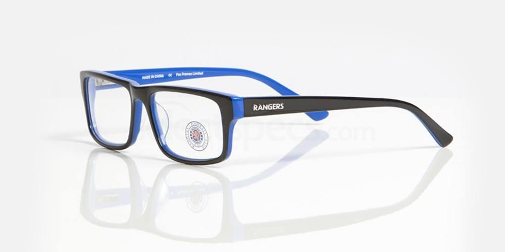 Black and Blue RANGERS FC - ORA005 Glasses, Fan Frames