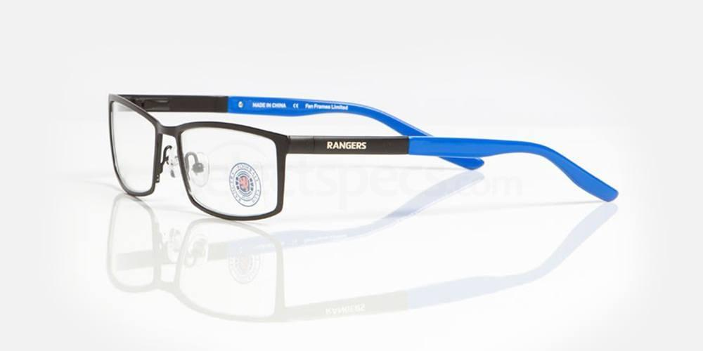 Black and Blue RANGERS FC - ORA006 Glasses, Fan Frames