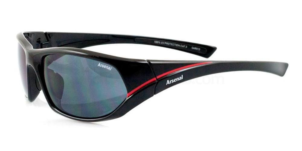 Arsenal Black and Red Arsenal FC - SAR013 Sports Wrap Sunglasses, Fan Frames