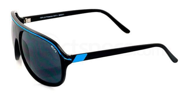 Manchester City Black and Sky Manchester City - SMC011 Carerra Sunglasses, Fan Frames