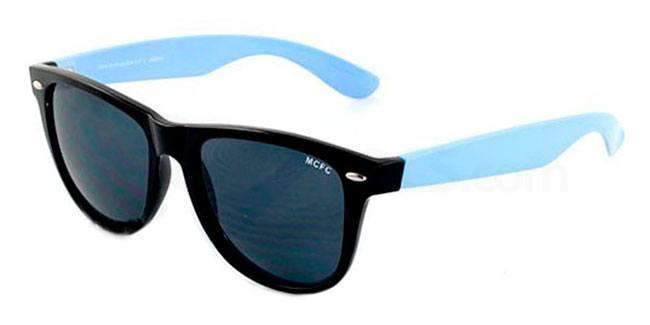 Manchester City Black and Sky Manchester City - SMC012 Wayfarer Sunglasses, Fan Frames