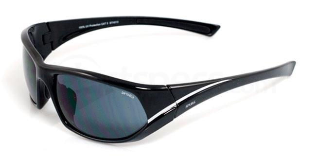 Tottenham Hotspurs Black and White Tottenham Hotspurs - STH013 Sports Wrap Sunglasses, Fan Frames