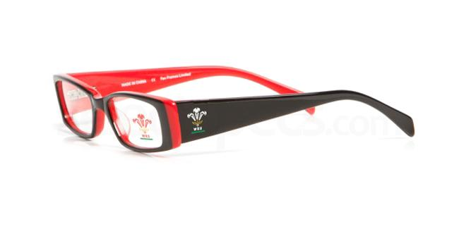 Black and Red Welsh Rugby Union - OWRU002 , Fan Frames KIDS