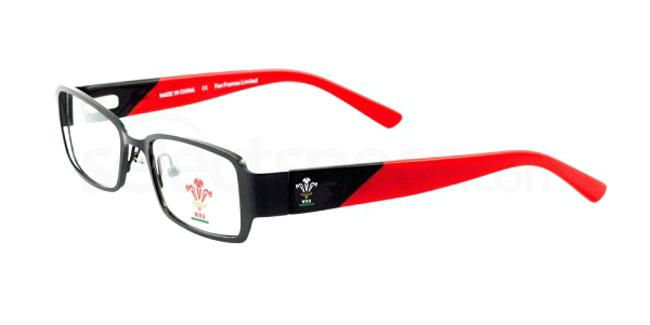 Black and Red Welsh Rugby Union - OWRU007 , Fan Frames KIDS