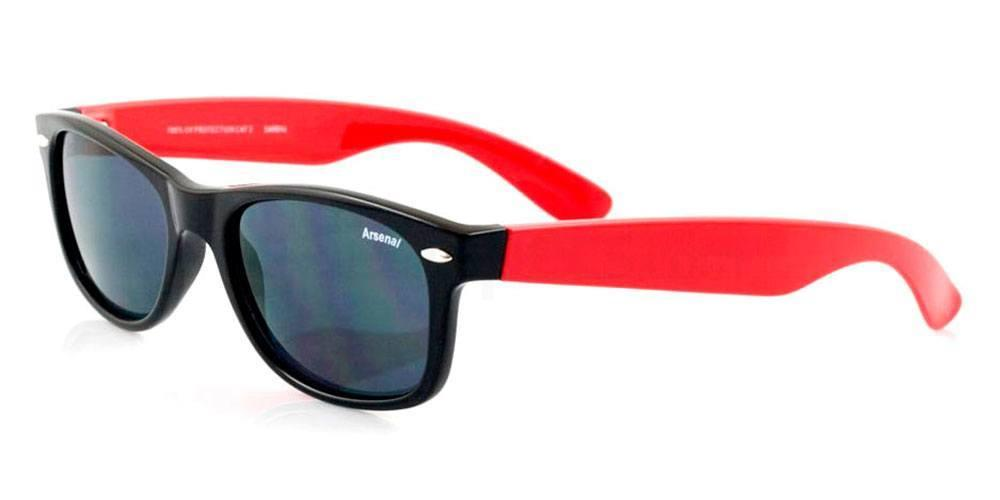 Arsenal Black and Red Arsenal FC - SAR014 - Kids/Teens Sunglasses, Fan Frames KIDS